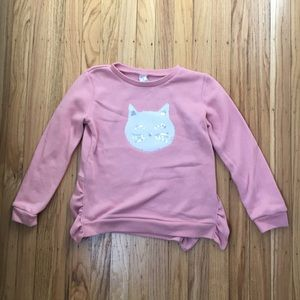 Flup Sequin Kitty Sweatshirt